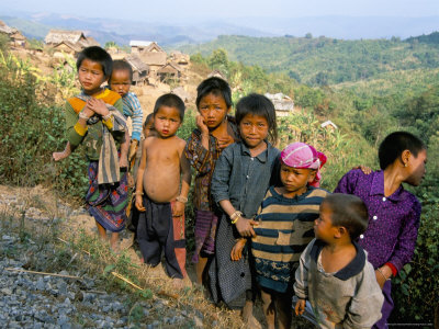Village Children, Udomoxai (Udom Xai) Province, Laos, Indochina, Southeast Asia Photographic Print by Jane Sweeney
