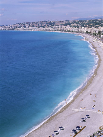 Baie Des Anges, Nice, Alpes Maritimes, Cote d'Azur, French Riviera, Provence, France Photographic Print by Guy Thouvenin