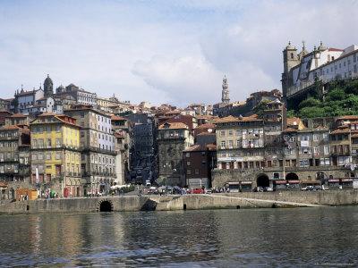 Riverfront, the Douro River, Oporto (Porto), Portugal Photographic Print by I Vanderharst
