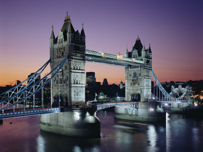 Tower Bridge, London, England, United Kingdom Lámina fotográfica