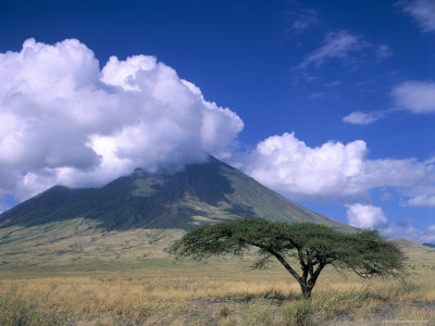 The Masai's Holy Mountain, Tanzania, East Africa, Africa Photographic Print by I Vanderharst
