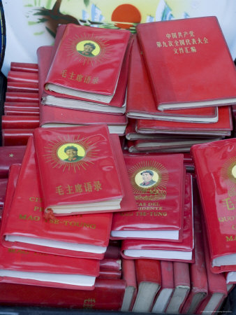Little Red Books for Sale at the Great Flea Market, Pan Jia Yuan, Beijing, China Photographic Print by Adam Tall