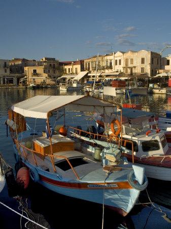 Fishing Boats, Rethymnon, Crete, Greek Islands, Greece, Mediterranean Photographic Print by Adam Tall