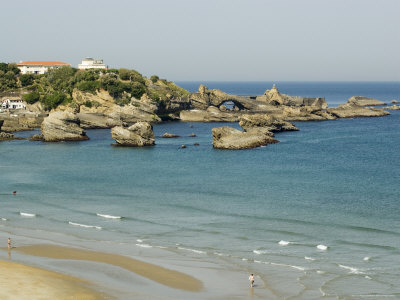 The Beach, Biarritz, Basque Country, Pyrenees-Atlantiques, Aquitaine, France Photographic Print by  R H Productions
