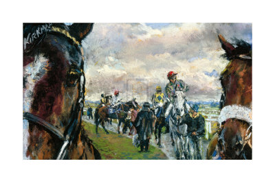 After The Bell-Newcastle Races Premium Giclee Print by Jay Boyd Kirkman