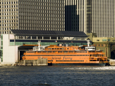 Staten Island Ferry, Business District, Lower Manhattan, New York City, New York, USA Photographic Print by  R H Productions