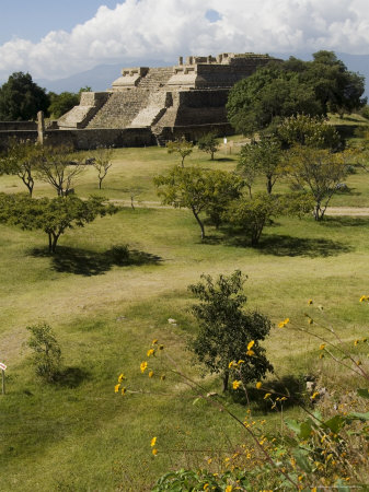 Building 5, the Ancient Zapotec City of Monte Alban, Unesco World Heritage Site, Oaxaca Photographic Print by  R H Productions
