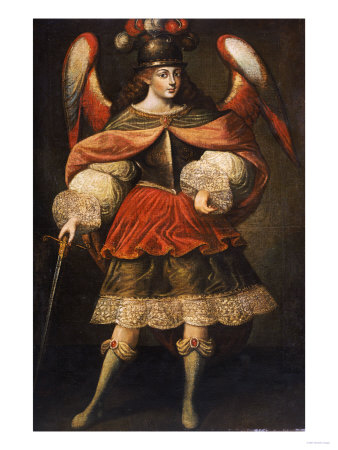 Archangel Miguel, 18th Century Premium Giclee Print by Jose Agustin Arrieta