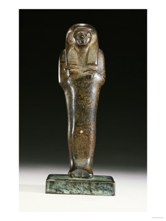An Egyptian Serpentine Shabti, New Kingdom, Dynasty XVIII, 1550 ...