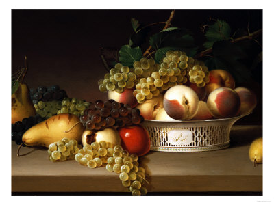 Fruit in a Chinese Basket, 1822 Premium Giclee Print by James Peale