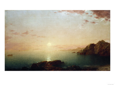 Coastal Sunset, 1864 Premium Giclee Print by Hendrik Avercamp