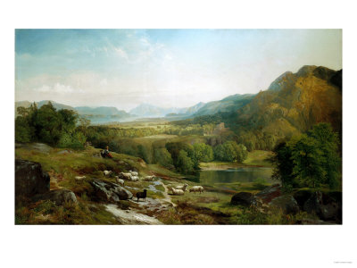 Minding the Flock, Circa 1867 Premium Giclee Print by Hendrik Avercamp
