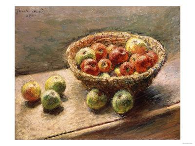 A Bowl of Apples, 1880 Premium Giclee Print by Edgar Degas