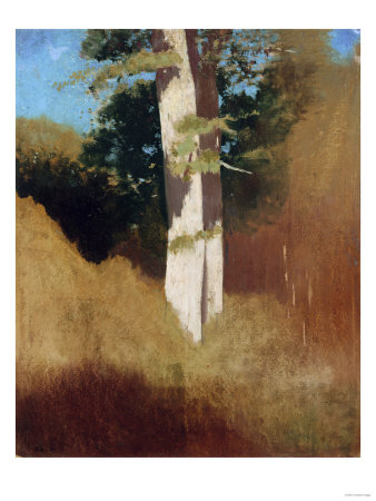 Tree with Blue Sky Giclée-tryk