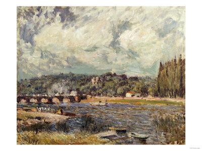 Le Pont De Sevres, 1877 Giclée-tryk