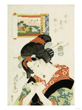 The Tomboy Type, from the Series 'Twelve Modern-Day Beauties' Premium Giclee Print by Ioki Bunsai
