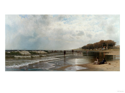 Long Branch, New Jersey, 1880 Giclée-tryk