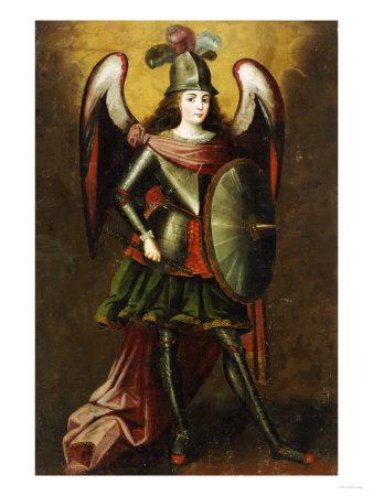 Archangel Michael, Anonymous Cuzco School, 18th Century Premium Giclee Print by Jose Agustin Arrieta