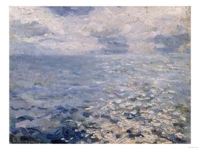 A Study of Sun on the Sea Premium Giclee Print by Jose Agustin Arrieta
