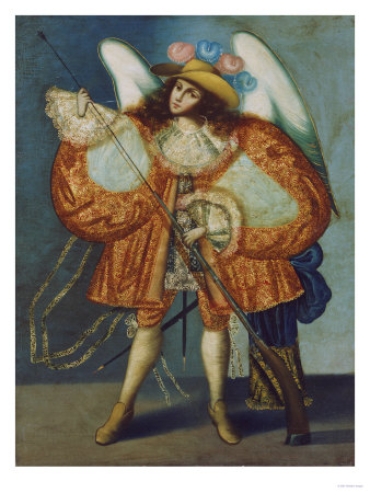 Arcangel Con Arcabuz, Anonymous, Cuzco School, 18th Century Premium Giclee Print by Jose Agustin Arrieta