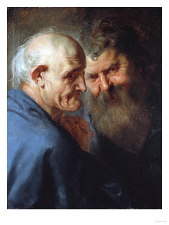 Two Apostles Premium Giclee Print by Hendrik Avercamp