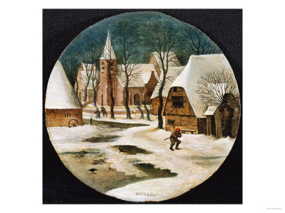A Village in Winter Premium Giclee Print by Hendrik Avercamp
