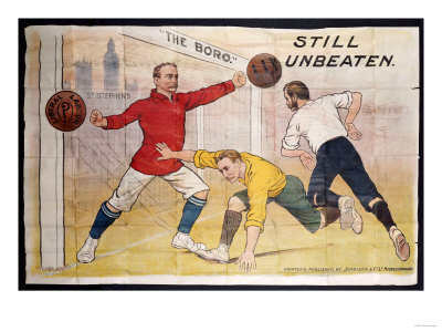 The Boro Still Unbeaten, Printed by Jordison & Co Ld, Middlesbrough Giclee Print