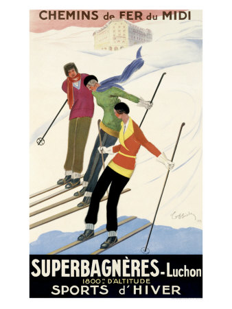 Superbagneres-Luchon, Sports d'Hiver Giclee Print by Leonetto Cappiello