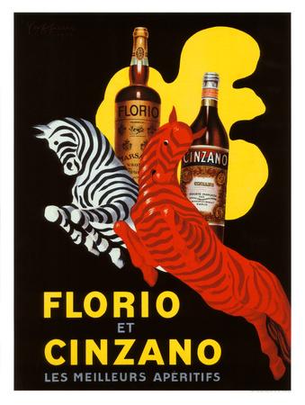 Florio et Cinzano Apertifs Giclee Print by Leonetto Cappiello