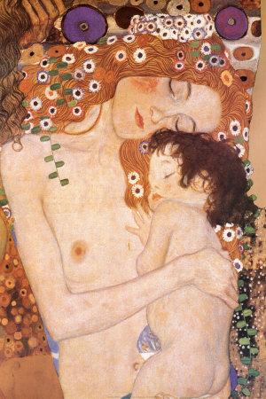 Matka a dítě (Mother and Child (detail zobrazu Tři období života ženy), cca1905) Plakát