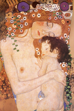 Mother and Child (detail from The Three Ages of Woman), c.1905 Prints by Gustav Klimt
