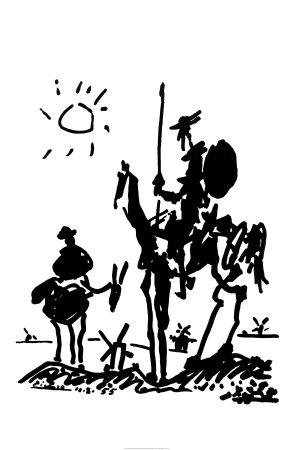 Don Quixote Posters van Pablo Picasso