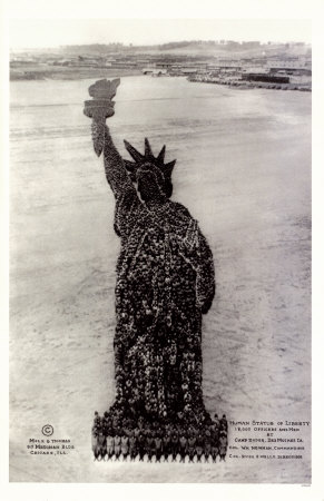 Human Soldier Statue Of Liberty Masterprint