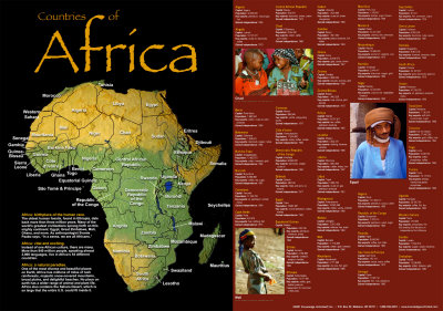 Countries Of Africa Poster!