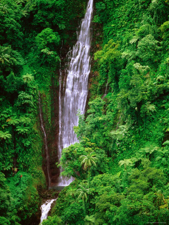 Tiavi Falls, Upolu, Samoa Photographic Print by Peter Hendrie
