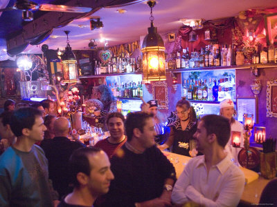 Customers in Maruja Limon Bar, Valencia City, Valencia, Spain Photographic Print by Greg Elms