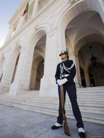 Guard at Palacio de Sao Bento, Sao Bento, Lisbon, Portugal Photographic Print by Greg Elms