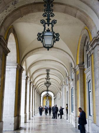Columned Archway, Praca Do Comercio, Baixa, Lisbon, Portugal Photographic Print by Greg Elms