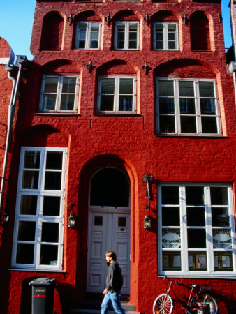 14th Century Building Housing Markgraf Restaurant, Lubeck, Schleswig-Holstein, Germany Photographic Print by Martin Lladó