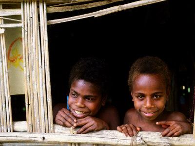 Custom Children, Tanna Island, Tafea, Vanuatu Photographic Print by Peter Hendrie