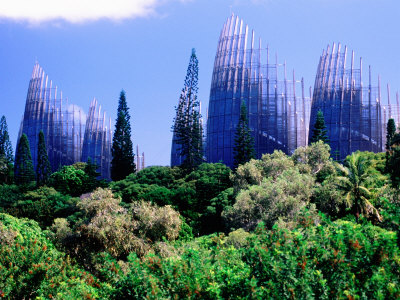 Tjibaou Arts and Cultural Centre, Noumea, South Province, New Caledonia Photographic Print by Peter Hendrie