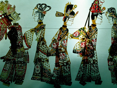 Traditional Shadow Puppets Cut from Leather in Muslim Quarter, Xi'an, China Photographic Print by Krzysztof Dydynski