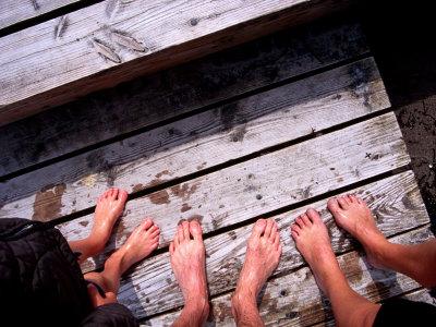 Detail of Feet on Bellevue Strand, Klampenborg, Klampenborg, Copenhagen, Denmark Photographic Print by Martin Lladó