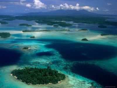Lagoon, West New Georgia, Vonavona Island, Western Province, Solomon Islands Photographic Print by Peter Hendrie