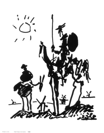 Don Quixote, ca. 1955 Kunsttryk