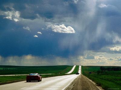 Prairie Thunderstorm over Interstate 90 Between Sioux Falls and Rapid City, Murdo, South Dakota Photographic Print by Richard Cummins