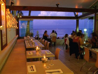 Inside Restaurant by the Beach, Noosa, Queensland, Australia Photographic Print by Greg Elms
