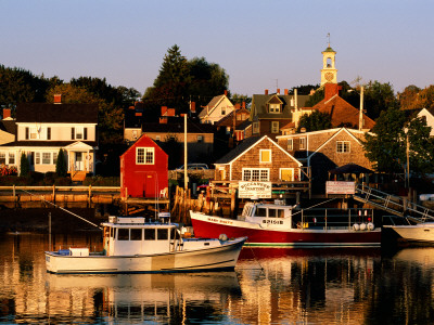 South End, Harbor and Houses, Portsmouth, New Hampshire Photographic Print by John Elk III