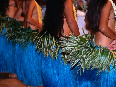 Row of Dancers, Rarotonga, Southern Group, Cook Islands Photographic Print by Peter Hendrie