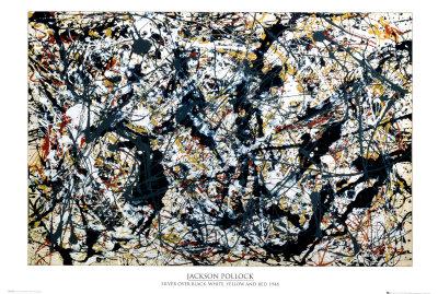 Argento su nero Foto di Jackson Pollock
